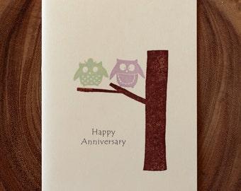 Owl Anniversary Card