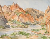 Grand Canyon Morning - Giclee Print of Original Watercolor