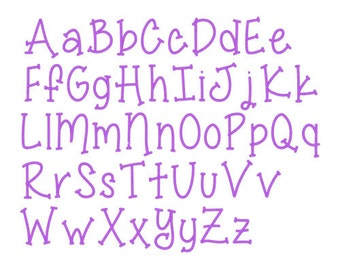 """Sizes 1"""",2"""",3"""" - Instant Download - Miss Smarty Pants  -  Embroidery Font Design 246"""
