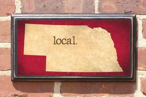 Nebraska nb local wall art sign plaque gift present home Home decor lincoln ne