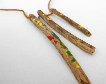 Wooden Neklace- Hand painted