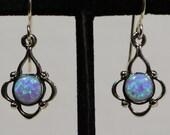 Opal Earrings Sterling Silver Opal Earrings Opal Jewelry Sterling Silver Opal Jewelry