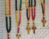 Childrens Rosary Colorful Wooden Beads