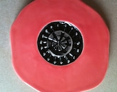 poppy, handmade ceramic coaster set