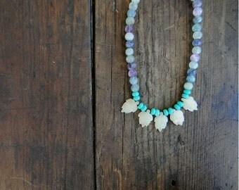 Bohemian Amethyst Necklace Wedding Sundance style jewelry