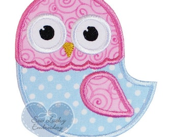 Owl Applique Embroidered Patch, Sew or Iron on
