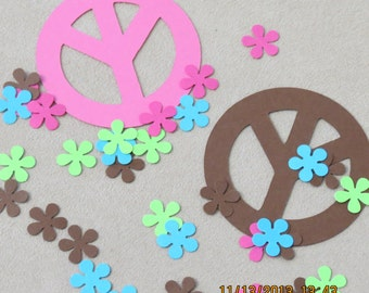 Peace Sign & Flower Die Cuts/Embelishments