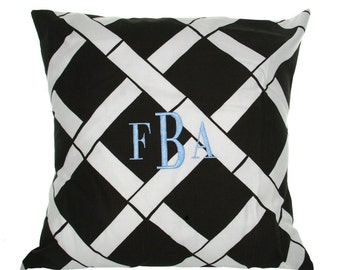 Pillow - Monogrammed Throw Pillow - Custom Housewares - Great Gift - Housewarming Gift - Personalized Throw Pillow