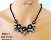 ELADVEN superduo beaded necklace beading tutorials and patterns seed bead beadwork jewelry beadweaving tutorial beading pattern instructions
