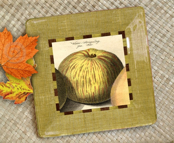 Items Similar To Decorative Plates Apple Kitchen Decor
