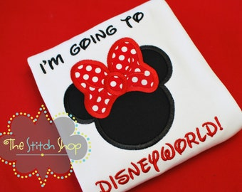 I'm Going to Disneyworld Monogrammed and AppliquedShirt