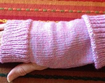 Fingerless Glove - Arm Warmer Pink Varigated