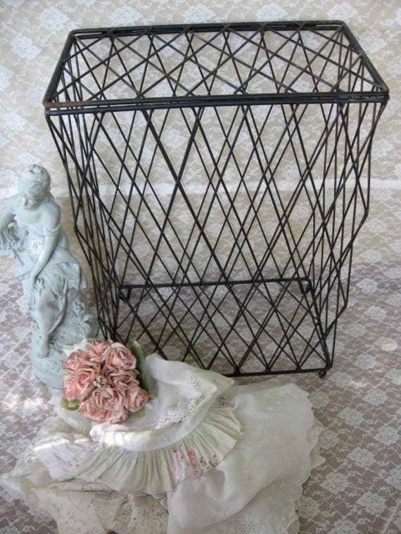 Shabby Chic Laundry Hamper Metal Clothes Hamper Wrought Iron