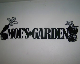 Personalized Vegetable Garden Sign for Fence or Building