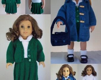Knitting Patterns For Journey Girl Dolls : Time For School - PDF Doll Clothes knitting pattern for 18