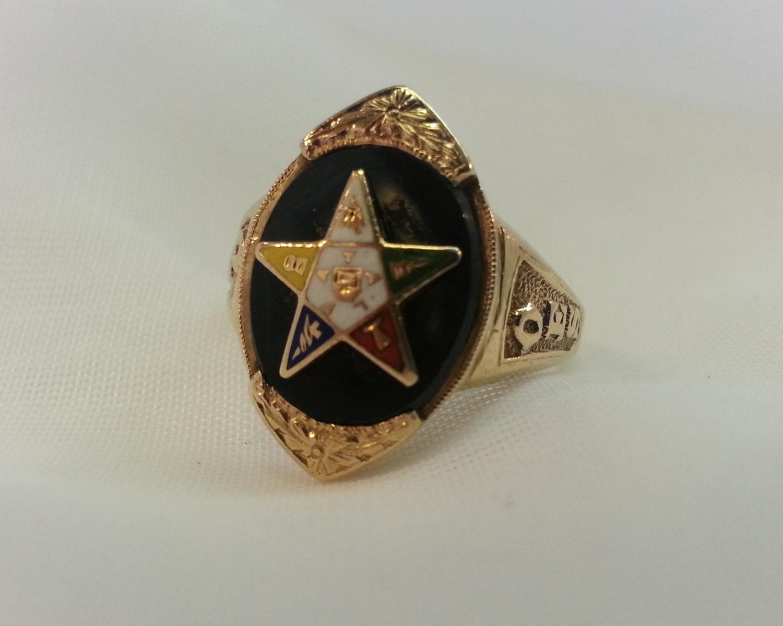 Vintage Eastern Star Rings 48