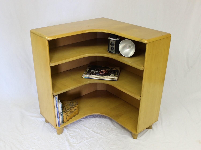 Mid century modern heywood wakefield corner bookcase m322 Modern corner bookshelf