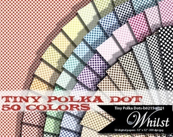 Polka dot digital paper swiss dot scrapbook paper backgrounds small tiny : b0215 v301