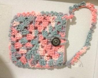 Crocheted Granny Square Purse #171
