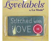 Labels, Stitched with Love, NON CUSTOMIZABLE Craft Labels, Sewing Labels, BL-LL2590