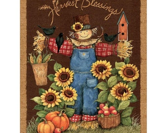 Cotton Fabric, Harvest Blessings Wall Hanging Panel Springs Creative Fall Themed Fabric