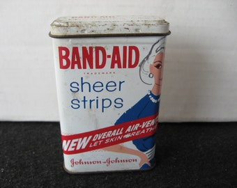 Vintage 1950's/60's Johnson & Johnson Band-aid Tin