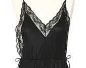 Gorgeous Slip Nightgown - Black - Size Small Sears - Lace Black