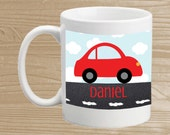 Custom Car Mug - Personalized Kids' Cup with Little Car - Plastic Car Mug for Boys