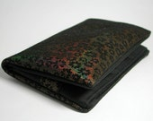 """Tobacco pouch, Wallet, Mobile Phone pouch """"rainbow flowers suede"""""""