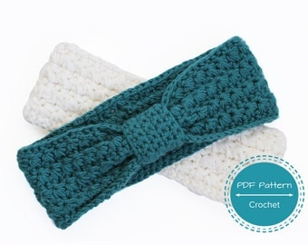 crochet headband pattern, pdf tutorial earwarmer hairband,  womens girls headband, crochet recipe