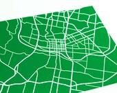 Austin Map Art City Print / University of Texas Wall Art / 8x10 / Custom colors