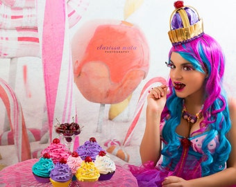 NEW ITEM 10ft x 10ft Vinyl Photography Backdrop / Candy Land Inspired