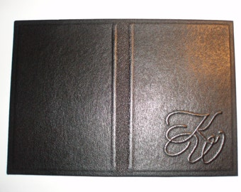 PASSPORT COVER HOLDER -  Personalized Leather Travel Gift Art Craft Handmade #4