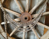 Bill Blass silver chain belt