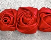 Red Triple Rose Applique