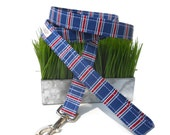 Navy Patriotic Stripe Dog Leash for Small to Large Dogs