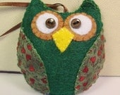 Primitive Owl Ornament, Hanging Owl Ornament, Unique Owl, Owl Home Decor, Primitive Bowl Filler