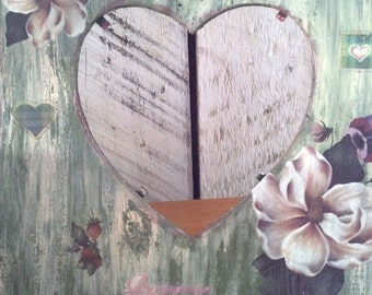 Decor Sale, Wedding, Anniversary,, Custom Open Heart Wooden Frame, Wood Picture Frames, Heart Shaped Cut Wood Frame, LOVE Frame, Gifts Sale