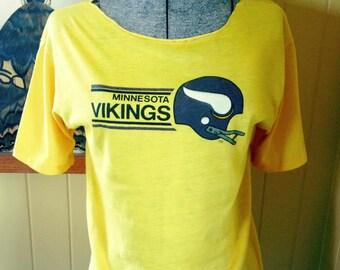 1970s Vintage Minnesota Vikings T / S / Yellow / Gold / NFL
