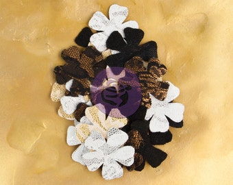 "SALE Prima Brillare Flowers ""Beaming"" (NEW 2014) - Textured Metallic Mulberry Paper Flowers - 24pcs - 575496"