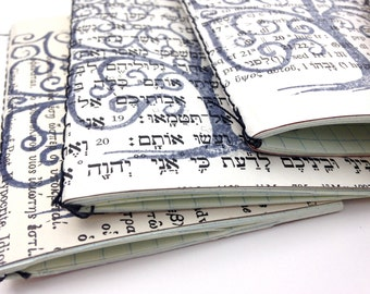 Small Jotter - Hand printed jotters, handmade notebook, hand-bound, pocket notebook