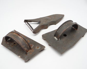 Antique Tin Flat Back Cookie Cutters and Kitchen Peeler