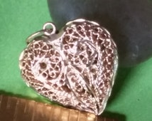 Vintage 14k Gold Heart, Size 20x19x6mm, Raw Gold Weight 3g, Charm, Pendant, Destash, Supply
