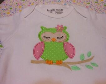 Owl Bodusuit Applique