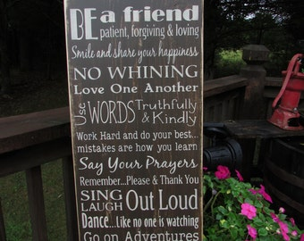 Primitive country, wall decor, Family rules,  hand painted wood sign,house rules, country decor, sign, family sign, inspirational sign