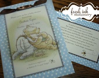 Classic Pooh Baby Shower Invitation