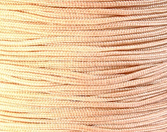 1mm Tan beige nylon cord - nylon thread - chineese Knotting Cord - Macrame thread (1451) - Flat rate shipping