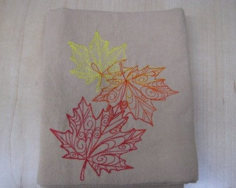 Delicate Autumn Leaves Towel - EXTRA STOCK