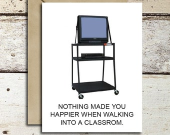 90s kid instant download/printable Greeting Card TV Cart