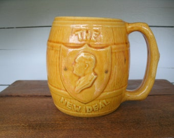SALE  The New Deal  F. D .R. Ceramic  Mug